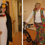 Resident and staff dressed up for Halloween