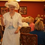 Mother's day tea residents and loved ones playing a game