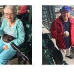 Two residents who caught a ball during the baseball game