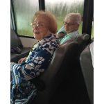 Residents traveling to the Slammer's baseball game