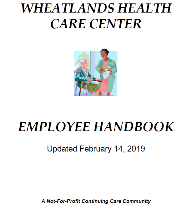 Wheatlands Healthcare employee handbook February 2019