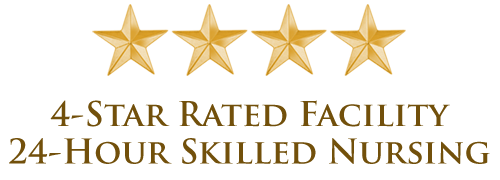 4-star rated facility, 24-hour skilled nursing banner