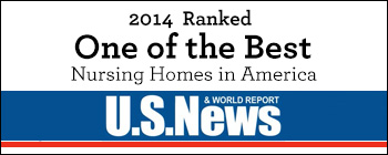 2014 One of the best nursing homes in America U.S. News & World Report banner