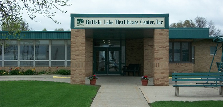 Buffalo Lake Healthcare Center covered front entrance
