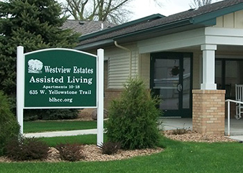 Westview Estates Assisted Living front entrance