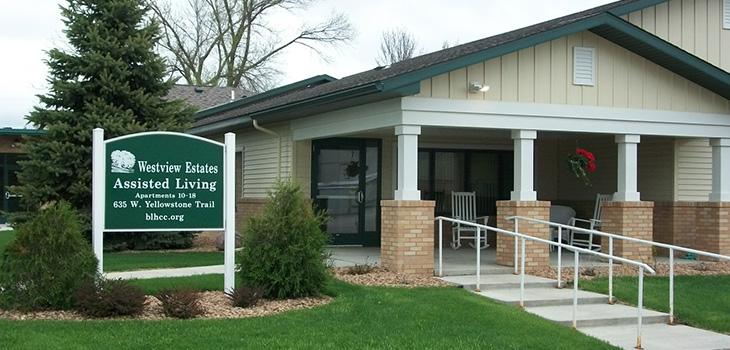 Westview Estates Assisted Living front entrance