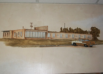 Historical drawing of Buffalo Lake Health Care Center