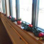 Garland decorating the windowsill