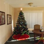 Festively decorated tree