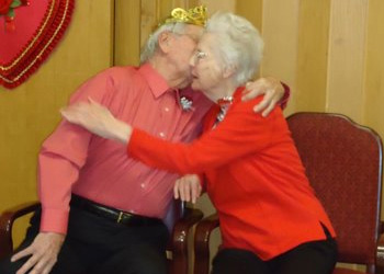 residents embracing each other