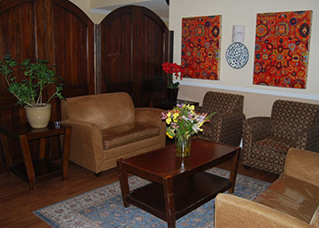Front lobby with plush seating