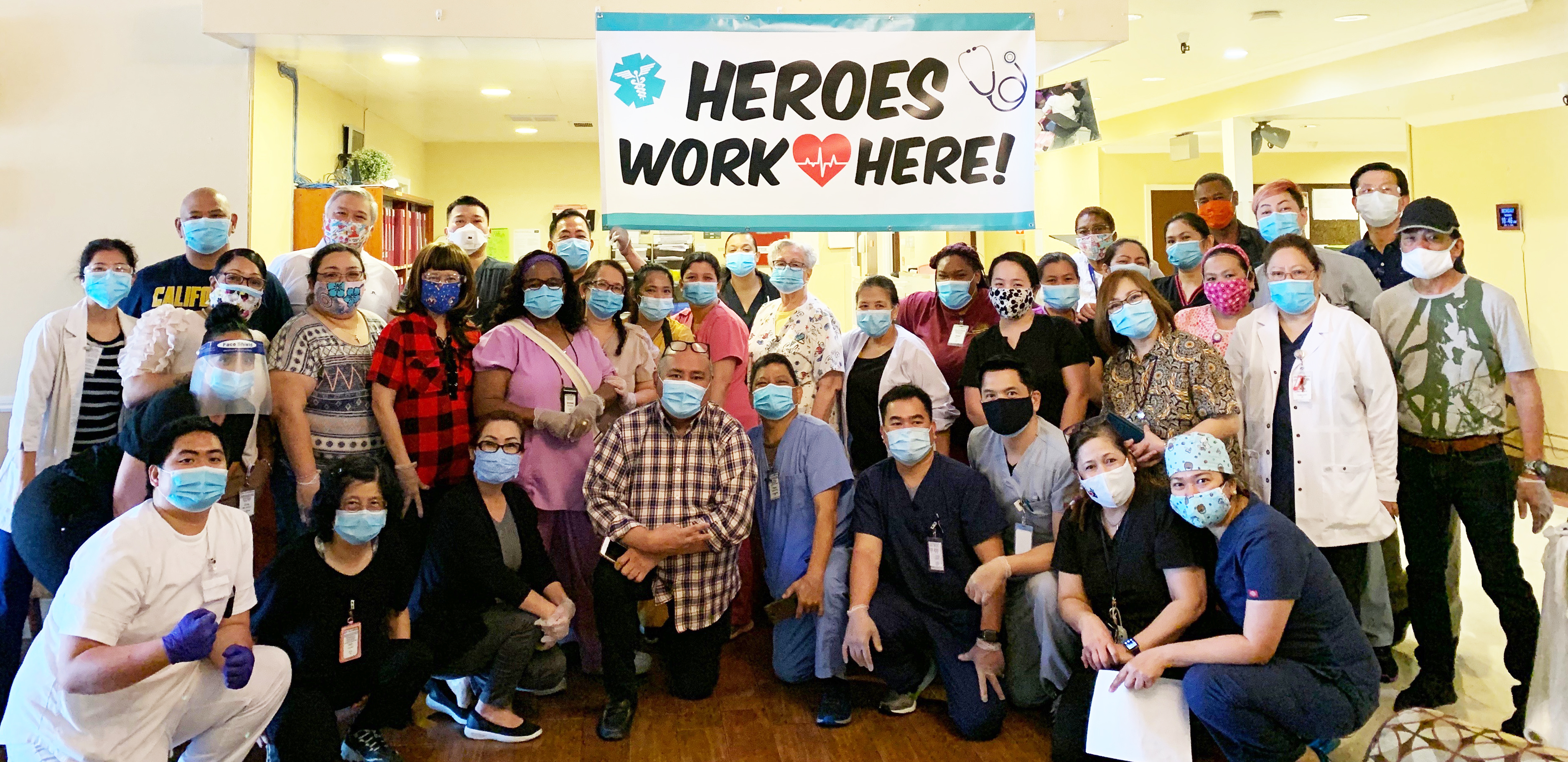 Heroes Work Here group photo