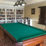 Pool table and library area