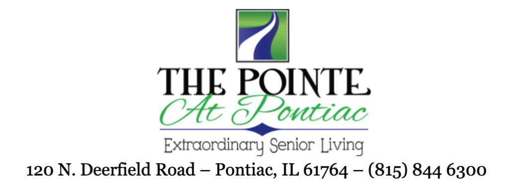 The Pointe at Pontiac newsletter banner