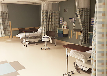 hospital beds in a facility