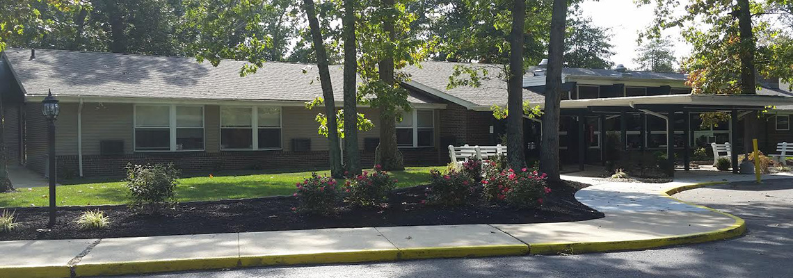Eagleview rehab exterior surrounded by mature trees