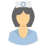 A nurse wearing a hat icon