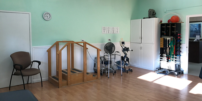 Casitas Care Center's nicely appointed rehabilitation room