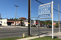 Casitas Care Center sign