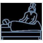 Nurse and patient icon