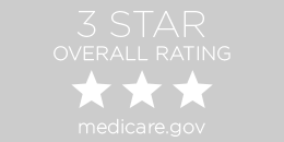 3-star Overall rating by medicare.gov button