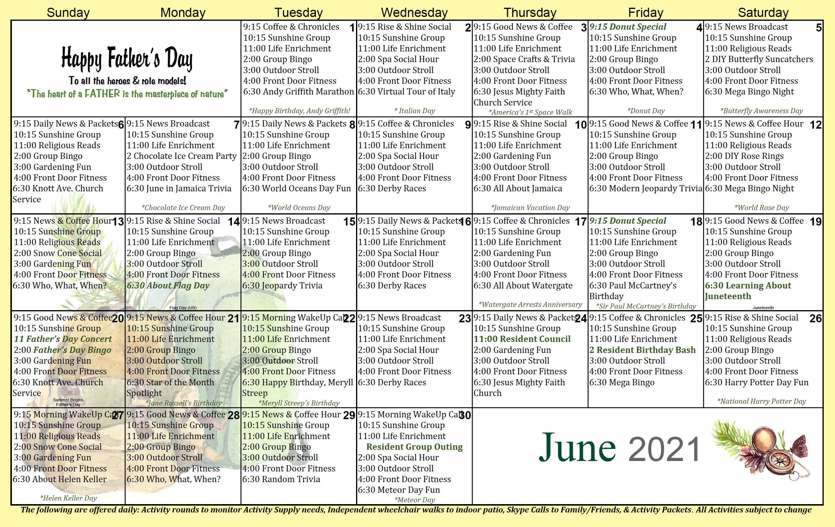 West Anaheim June 2021 Calendar