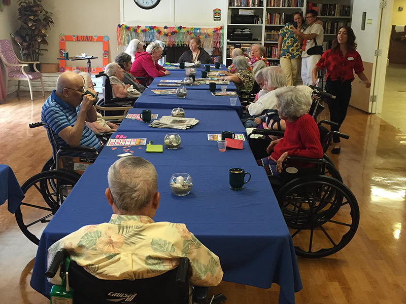 bingo game for residents - Monte Vista Healthcare Center