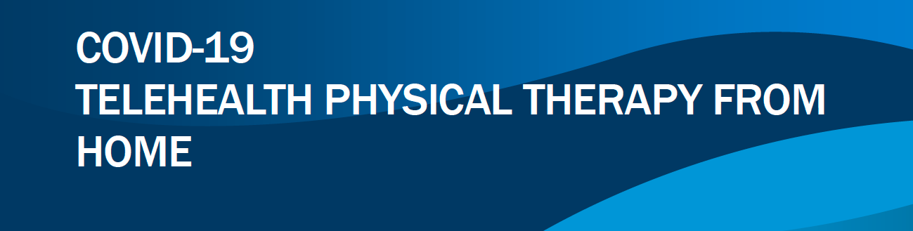 COVID 19 Telehealth Physical Therapy From Home