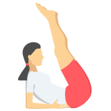 A woman stretching icon