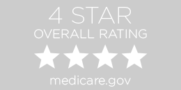 4-star overall rating from Medicare button