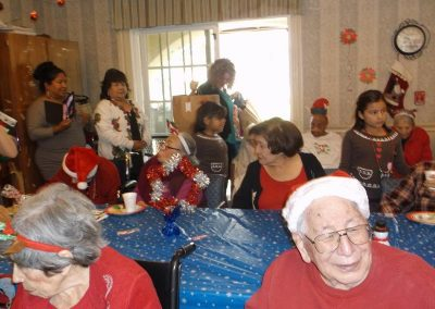Residents gathered for Christmas.