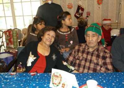 Residents and family members gathered for a Christmas Celebration.