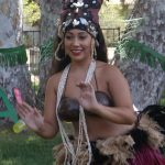 Visiting dancer performing for residents outdoors