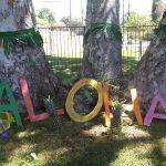 Aloha sign outside