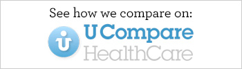 "See how we compare on ""U Compare Heathcare"" button"