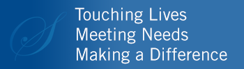 Touching lives, Meeting needs, making a difference graphic