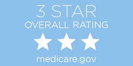 3-star Medicare overall rating button