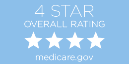 4-star overall Medicare and Medicaid rating button