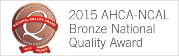 2015 AHCA-NCAL Bronze National Quality Award graphic