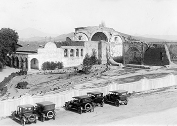 Mission San Juan Capistrano in the early 1920's