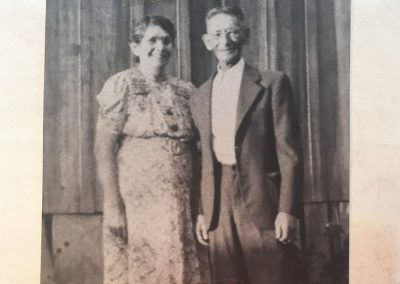 Jose Angel Nieblas and Dona Francisca Sanchez Nieblas in front of their home on Los Rios Street. Parents of Grandpa Joe and Aunt Quata! This photo was taken of them on the day of their 50th. Wedding Anniversary. They celebrated with a Mass and then a large family gathering in Capistrano.