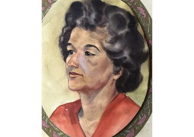 """Water color painting of Tia Elizabeth """"Quata"""" Sanchez Nieblas. She was one of the daughters of  Jose Angel Nieblas and Dona (loving known as """"big Nana"""" because she was so tall) Francisca Sanchez Nieblas. Tia Quata's whole life was San Juan Capistrano and she was loved by all of San Juan Capistrano's old families. She was known for her great smile, laugh and her famous and excellent home made Sonora style flour tortillas!"""