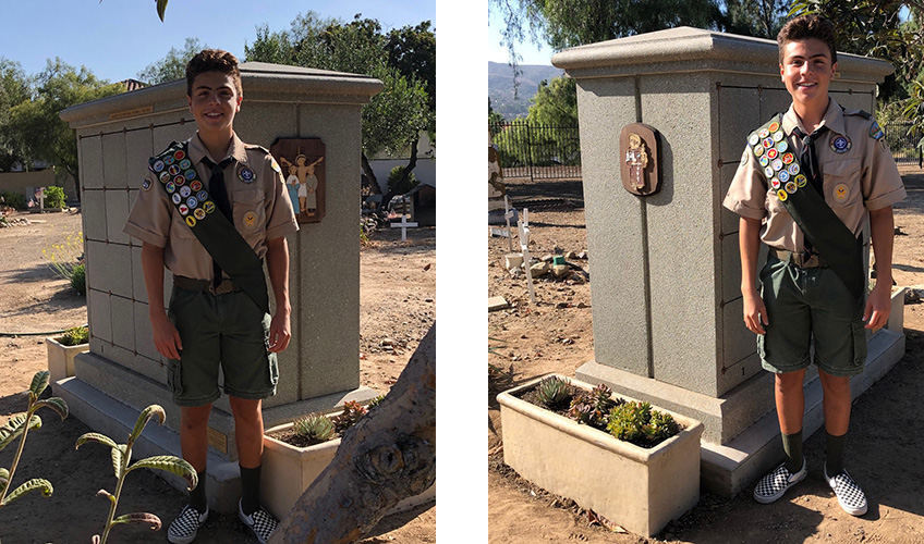 eagle scout smiling