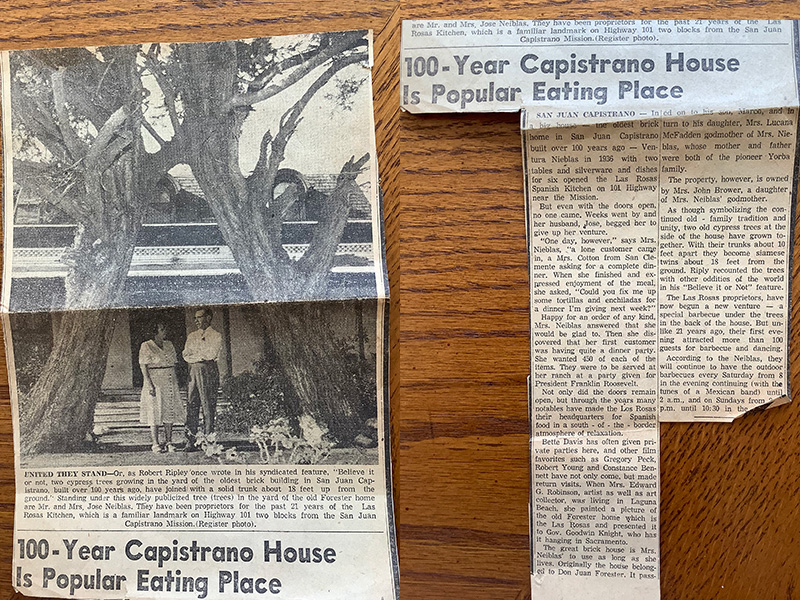 Memories of the La Rosas Spanish Kitchen and Nieblas Family Home