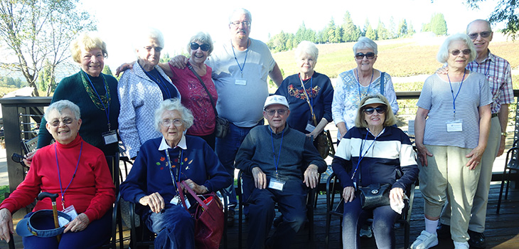 Residents on an outing together