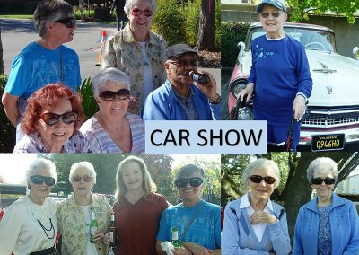 Residents at the annual car show