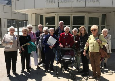 Residents on a trip to Teel Family Pavilion