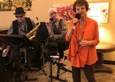 Event for residents with band