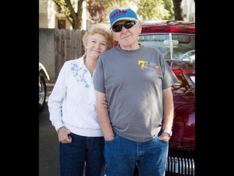 Sierra Regency residents at the car show