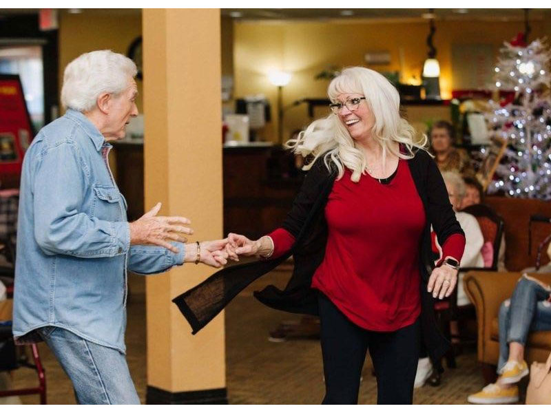 Sierra Regency residents dancing
